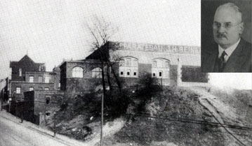 factory building and Picture of founder J.H. Reineke